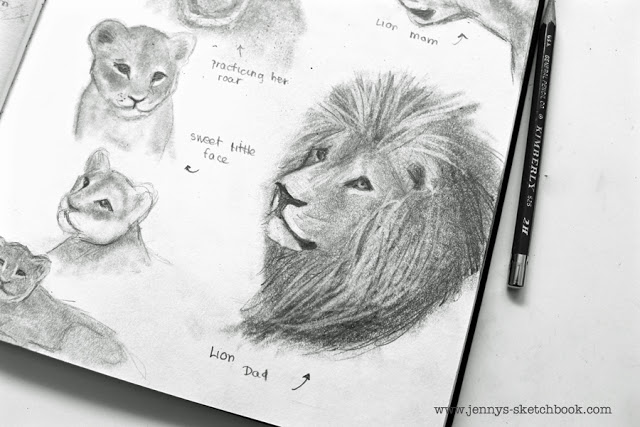 sketchbook pages by children's book illustrator, Jennifer Frith