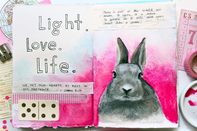 Bunny Journal Pages by Jennifer Frith