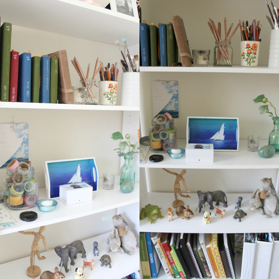 jennifer frith's studio - bookshelf