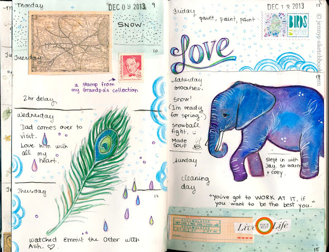 Watercolor Journal Pages