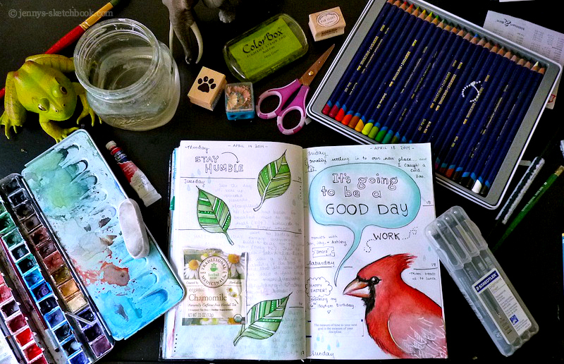 Jenny's Sketchbook:  Journal Pages