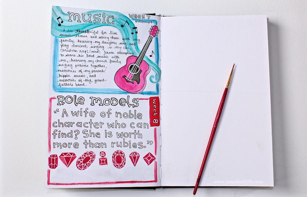 jennifer frith - journal page- gratitude 52 prompt 8