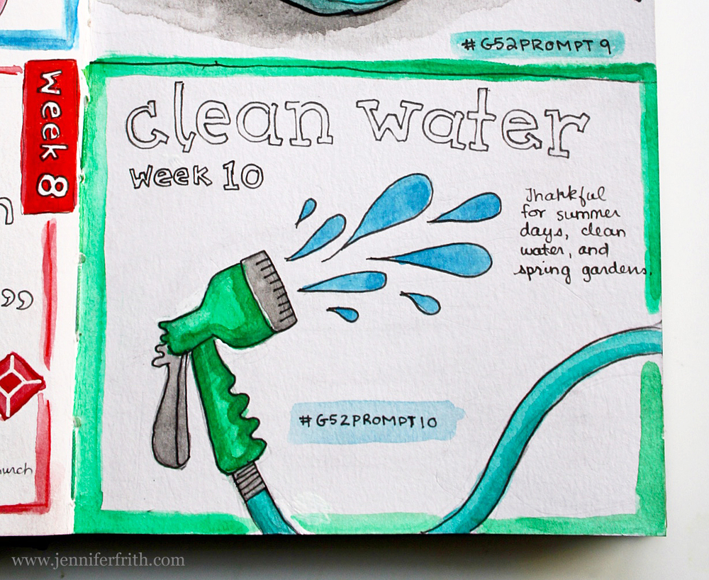gratitude 52 journal page clean water