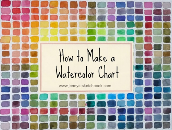 How To Make A Watercolor Chart Jennys Sketchbook