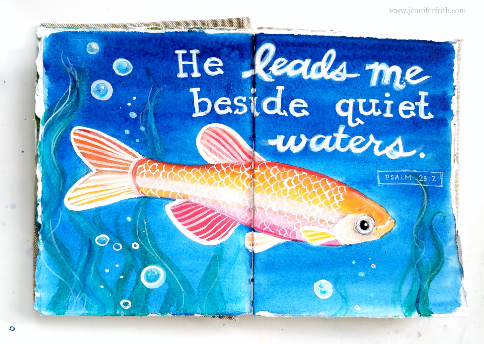 Watercolor journal pages by Jennifer Frith - Quiet Waters