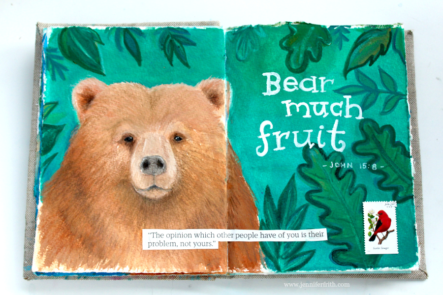 Sunday Sketchbook - Brutus the Bear - by Jennifer Frith