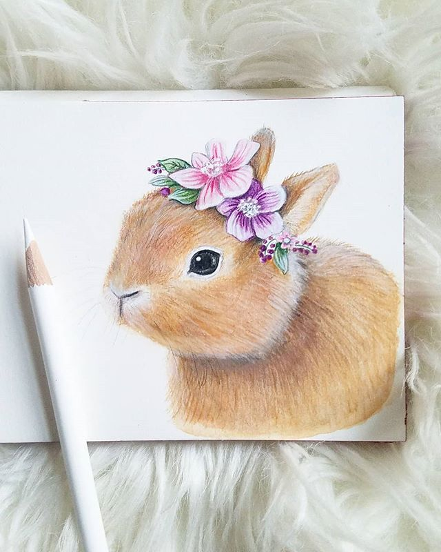 Bunny drawing for a friend.🐇 #Easter is coming. I'll have a few sweet bunnies in my Etsy shop soon. 🌿