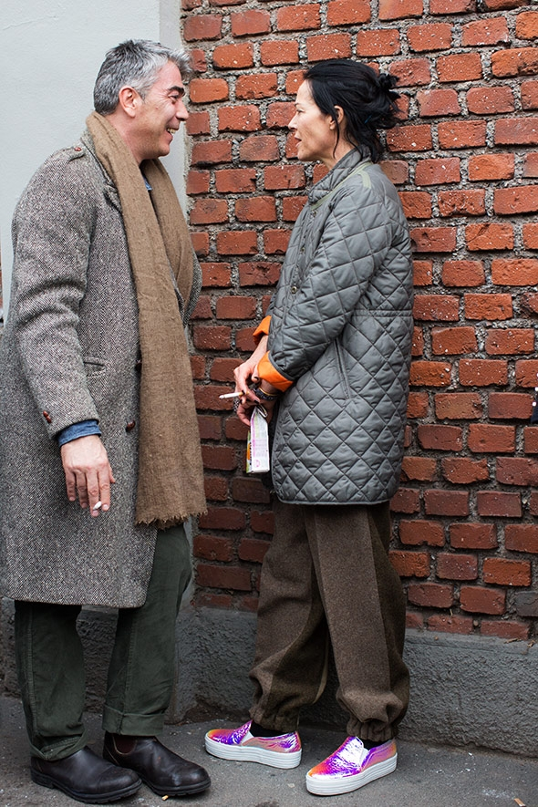 Harlech wearing a hipster, baggy look only a teeny tiny woman can get away with. Image from  thesartorialist.com .