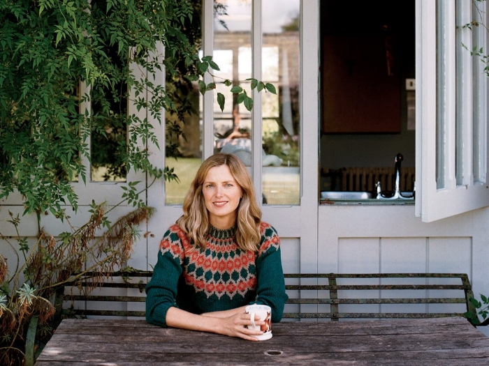 Brooks outside her kitchen. Image by Carol Sachs.