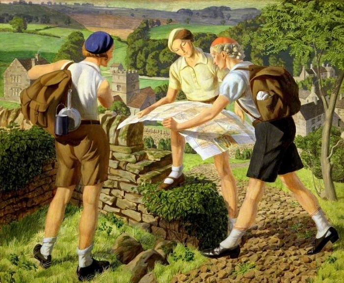 Hiking, by James Walker Tucker. Image: Laing Art Gallery (UK).
