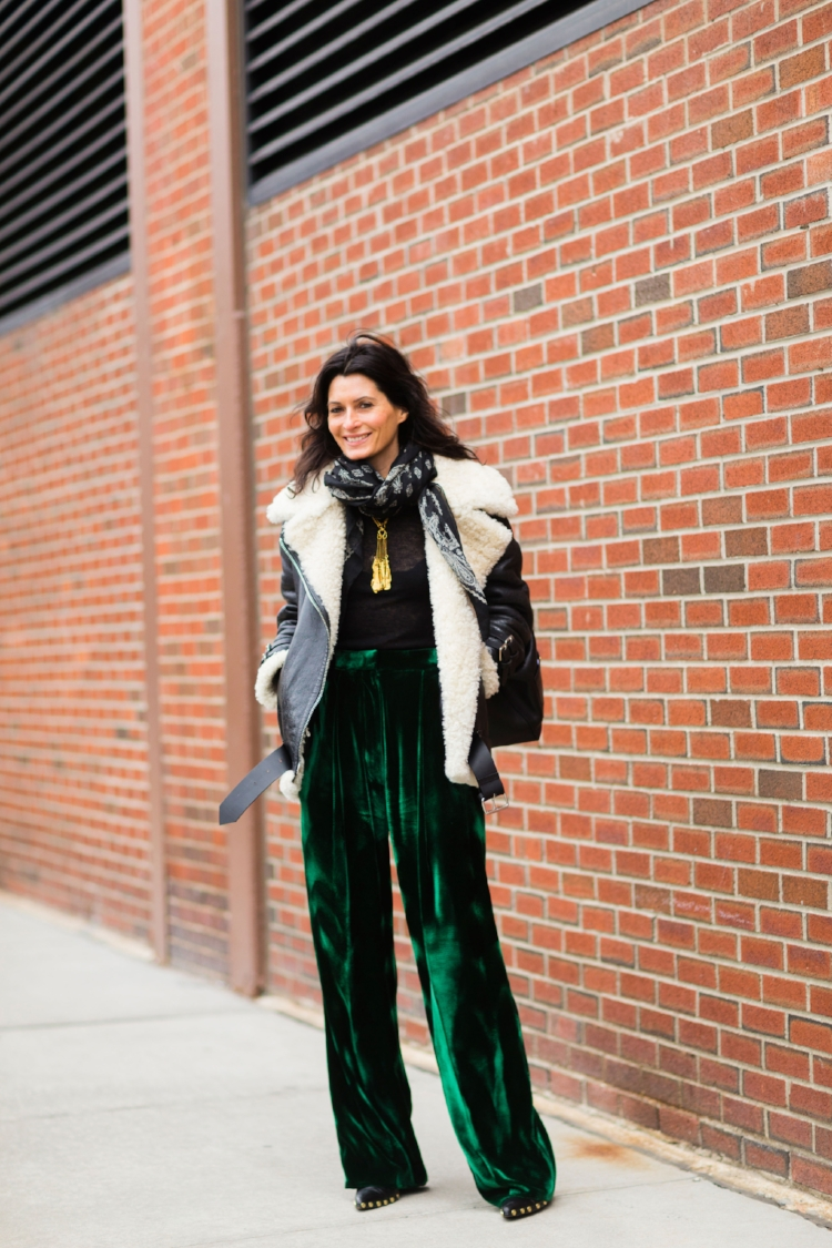 New York Fashion Week. Velvet pants, why not? Image: Nabile Quenum.