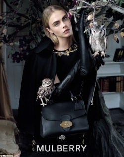 Birds evoke the English countryside, and the heritage brand Mulberry has co-opted this theme, featuring birds over the years in their campaigns.