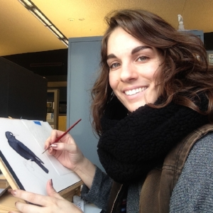 Painter Liz Clayton Fuller talks scientific illustration and leading field drawing classes to undergrads at Cornell.