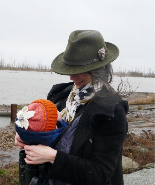 Vesper and I at Wiley Slough in the Skagit Wildlife Area, January, 2018.