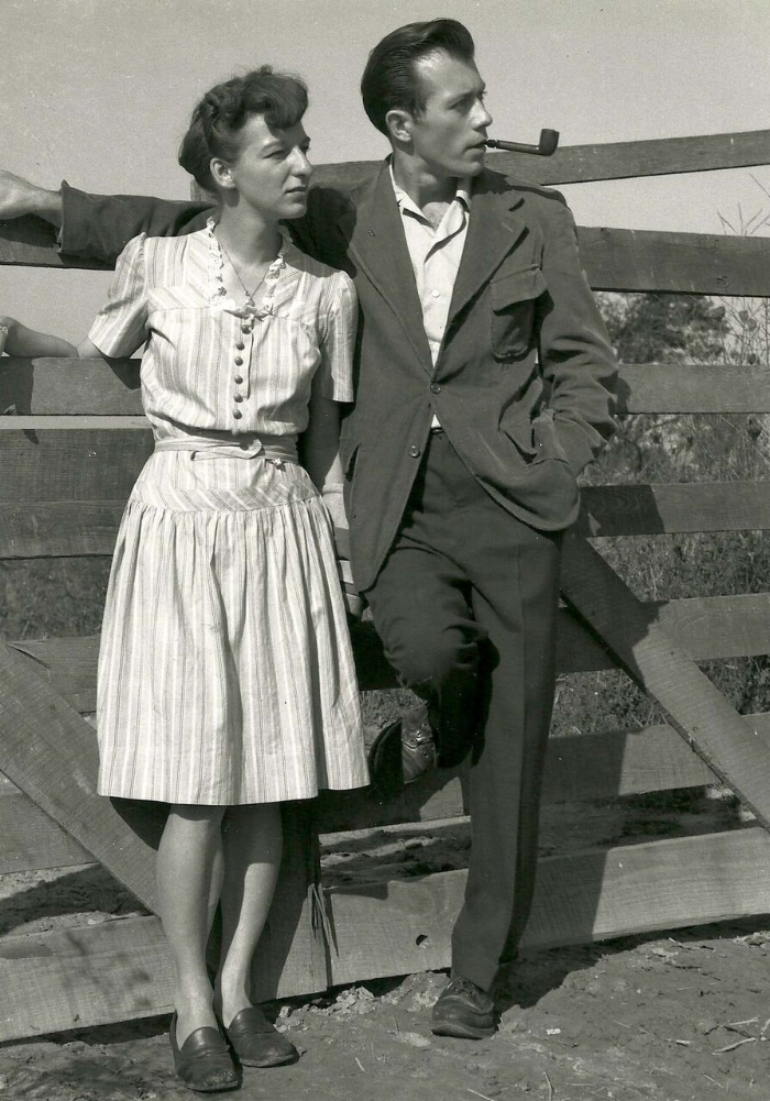 Ginnie and Don Eckelberry, circa late 1940s. Photo courtesy of Woodson Art Museum.
