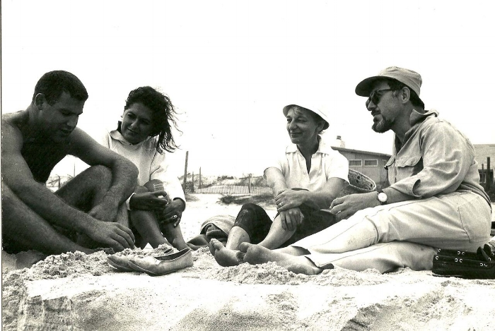 Ginnie and Don with friends, possibly in Trinidad, where they spent much time in the field. Photo courtesy of Woodson Art Museum.