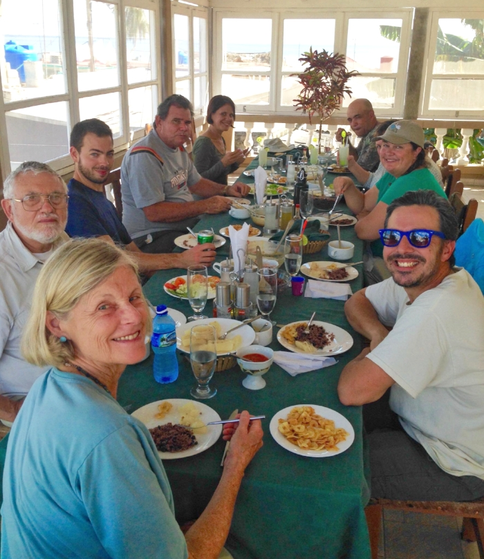 Cuban family-style meal in Playa Larga, Cuba. Photo by Mariel Abreu.
