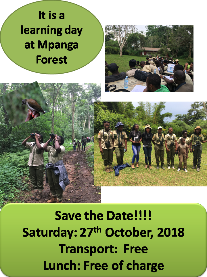 Flyer for a skills training day for members of Uganda Women Birders.