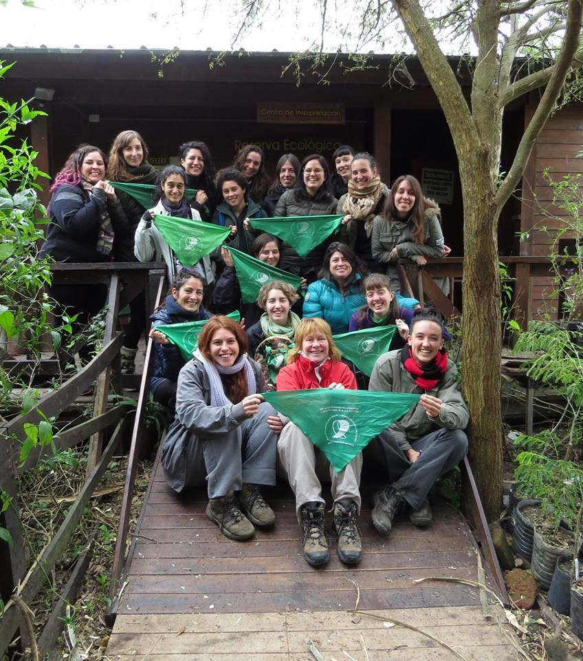 The inaugural walk of Colectiva Observadores de Aves (COA) Feminista, at the  Vicente Lopez Nature Reserve , Buenos Aires, Argentina, July 2018.