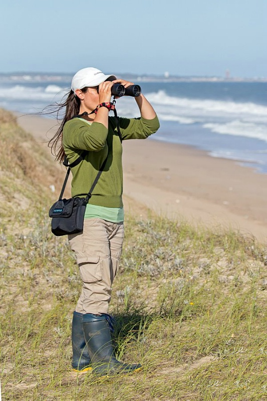 Florencia Ocampo on the beaches of Laguna de Rocha Protected Area, Department of Rocha, Uruguay.
