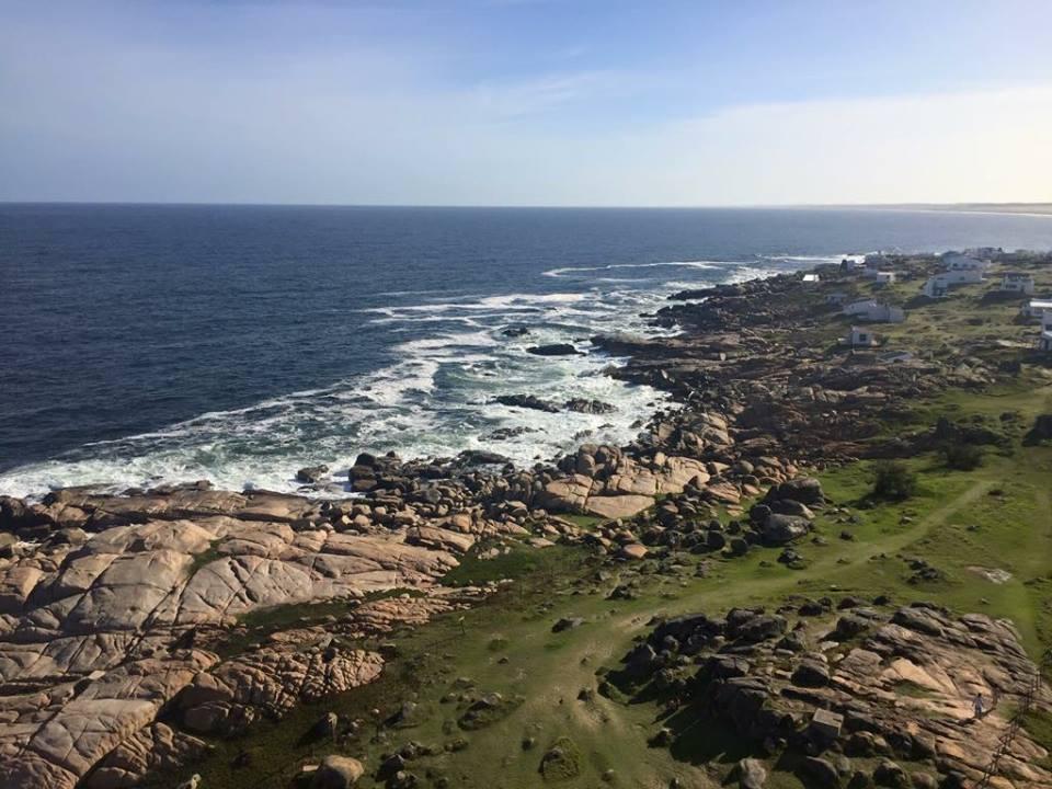 Rocky beaches along the coast, Rocha, Uruguay.
