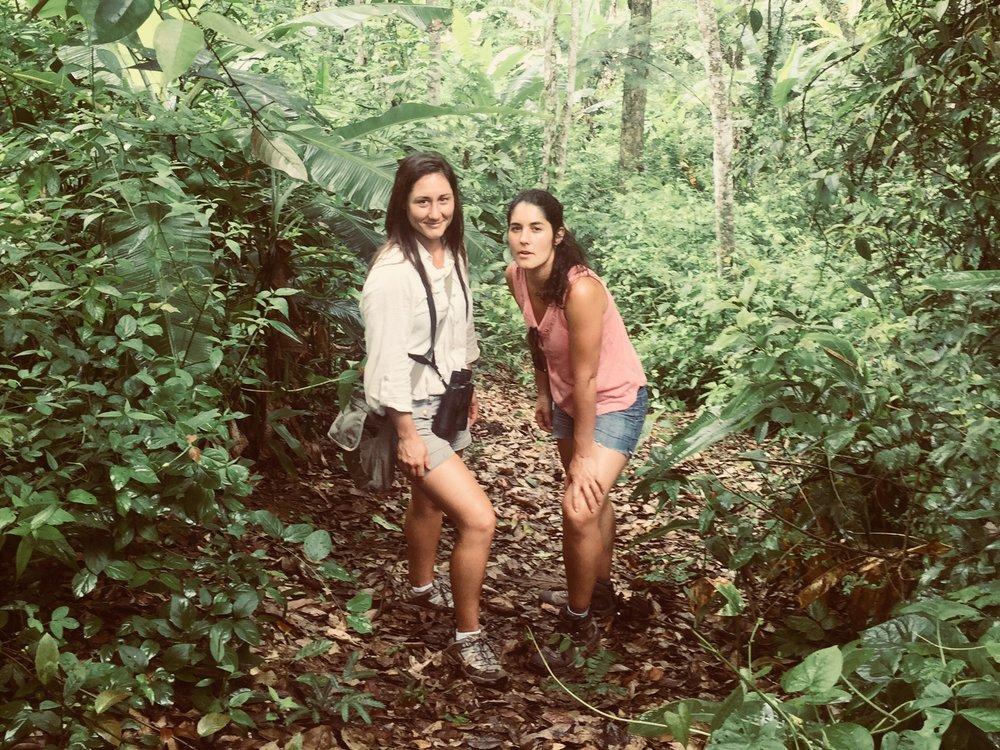Ocampo with her sister Valentina in NE Brazil.