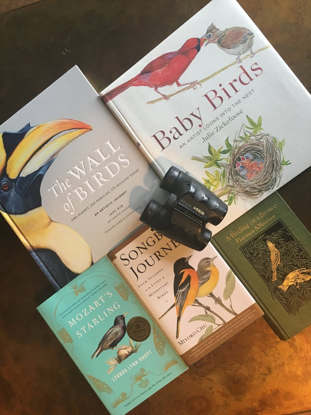 A personal selection of bird books by female authors, some read and some still waiting on my bedside table!