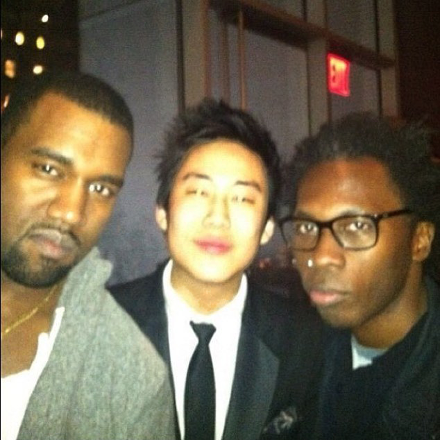 Jiho Givenchy and Kanye West