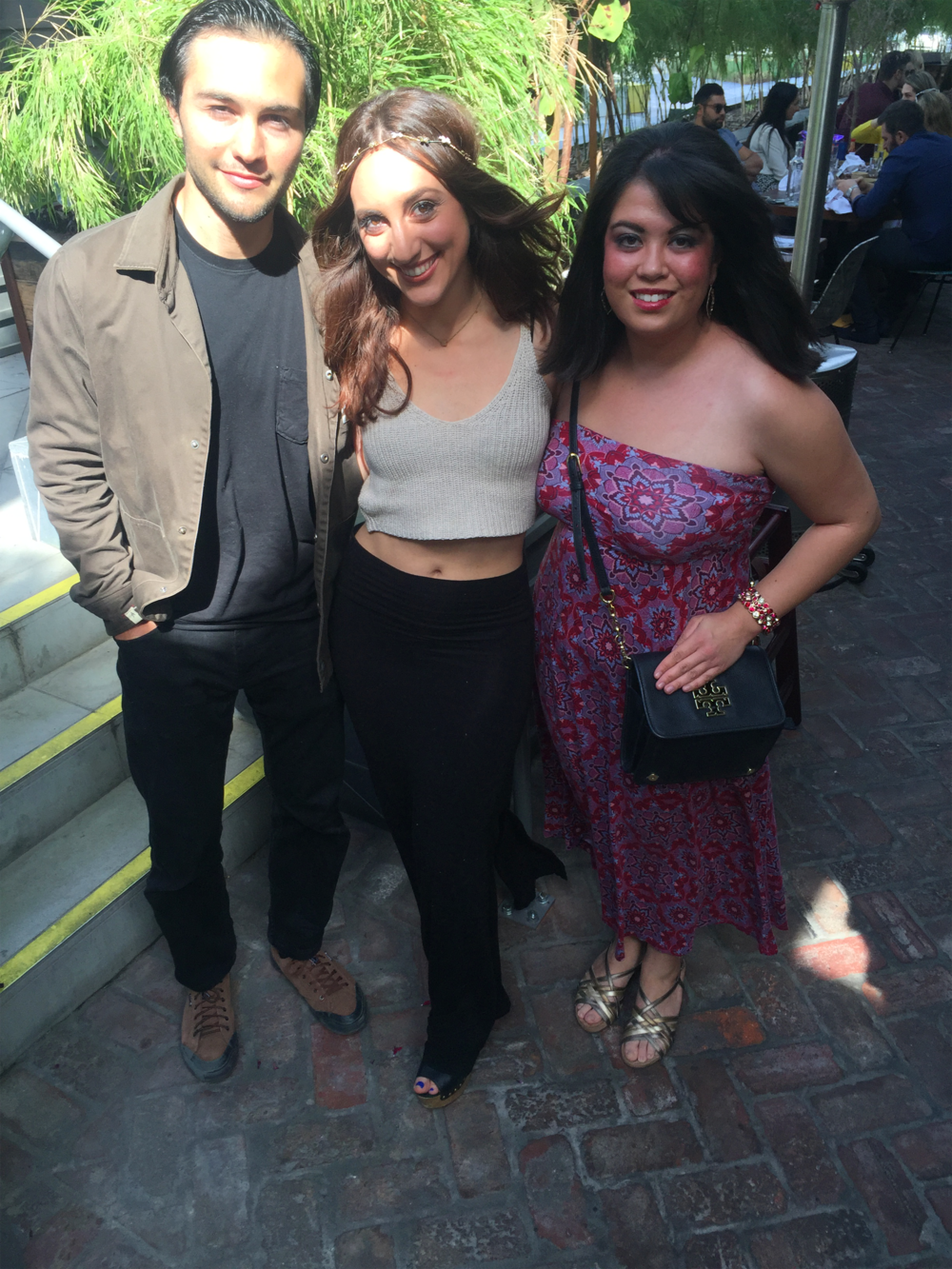 Steven Galekovic, Amy Hayakawa and Brielle Galekovic at Estrella Sunset