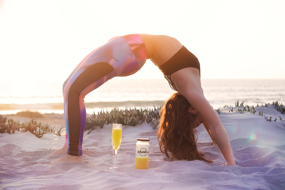 Brielle Galekovic doing Yoga Pose on The Gilded Bellini