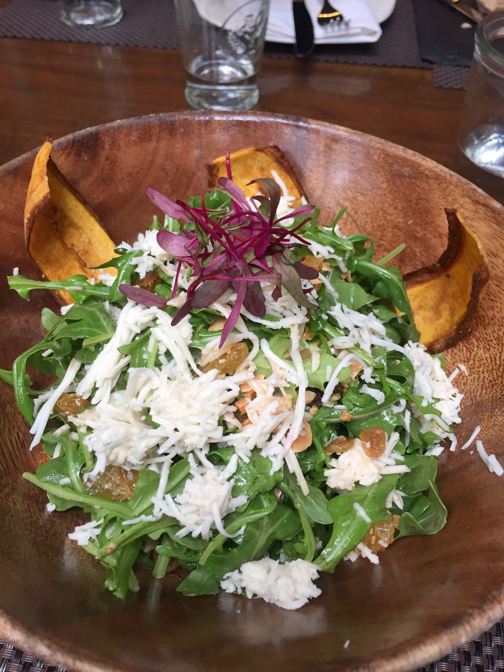 Toca Salad at Toca Madera on The Gilded Bellini