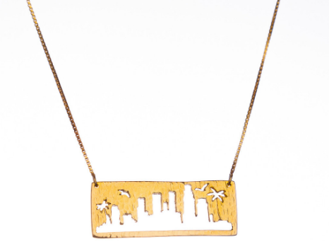 LA skyline pendant for City + Sky