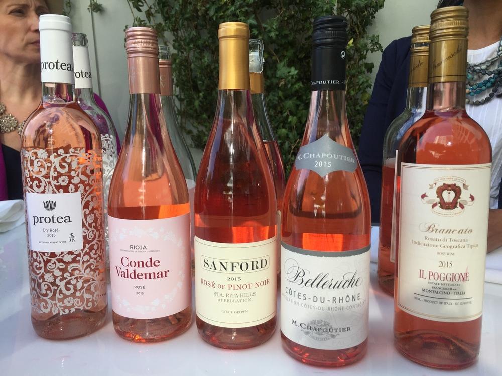 Group of Rosé wines at La Nuit en Rosé 2016 - The Gilded Bellini