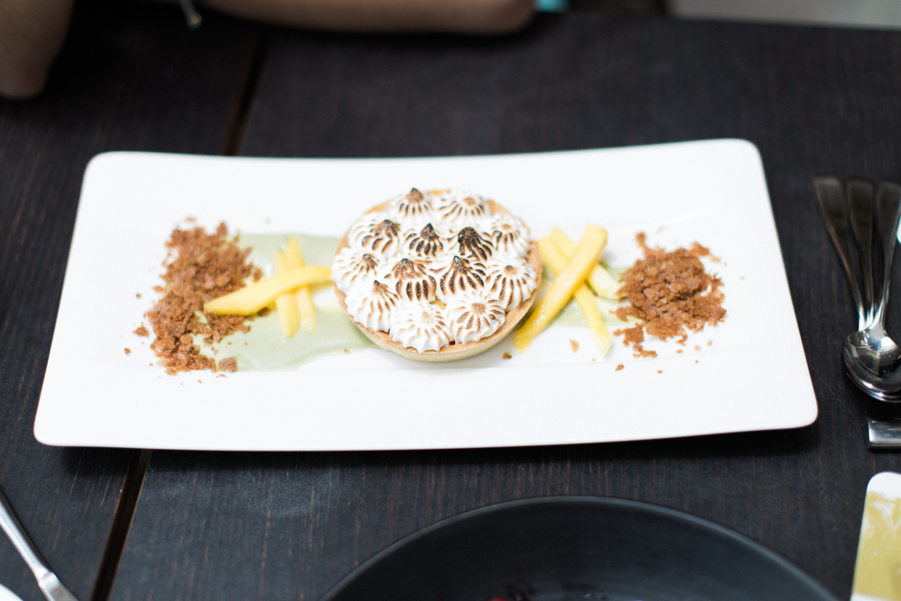 Mango Meringue Tart at Splashes at Surf & Sand Hotel