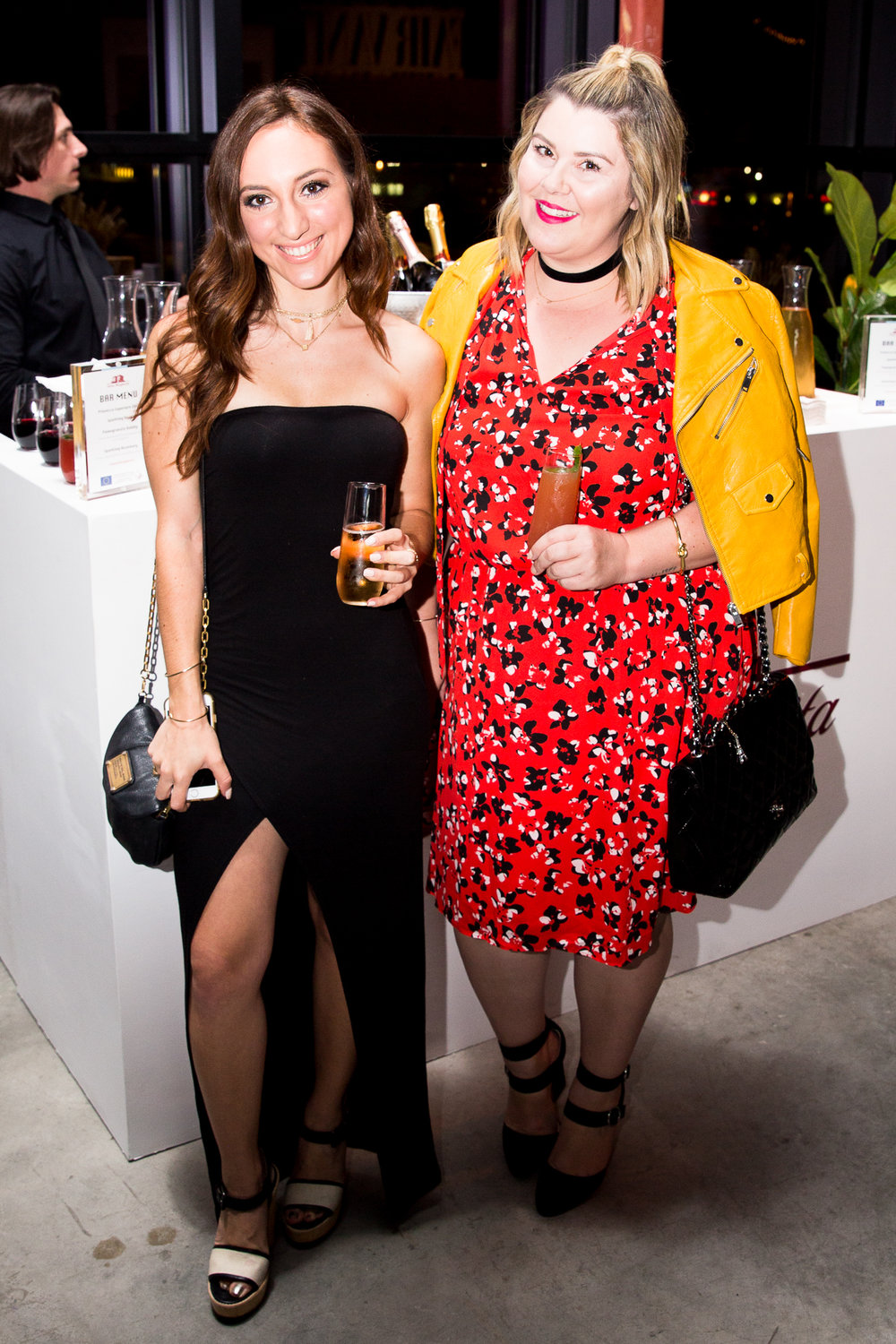 Brielle Galekovic of The Gilded Bellini and Samira of Style Me Samira at Vanity Fair Social Club Emmy's Edition