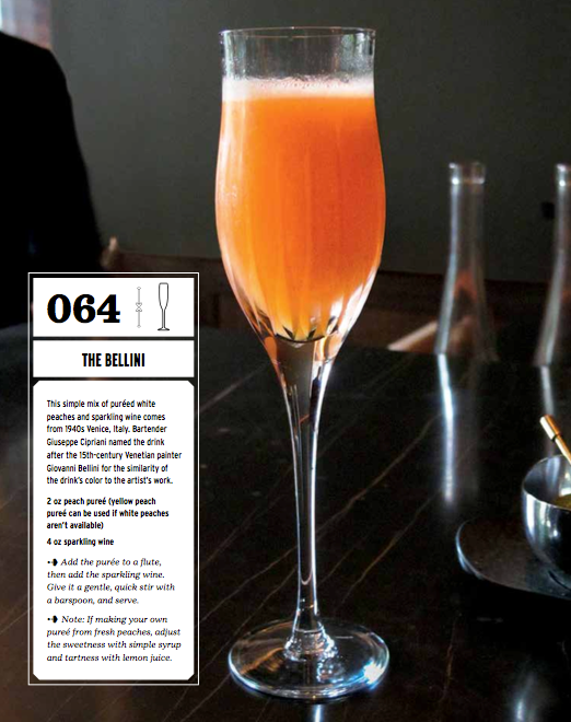 Bellini from The Complete Cocktail Manual by Lou Bustamante