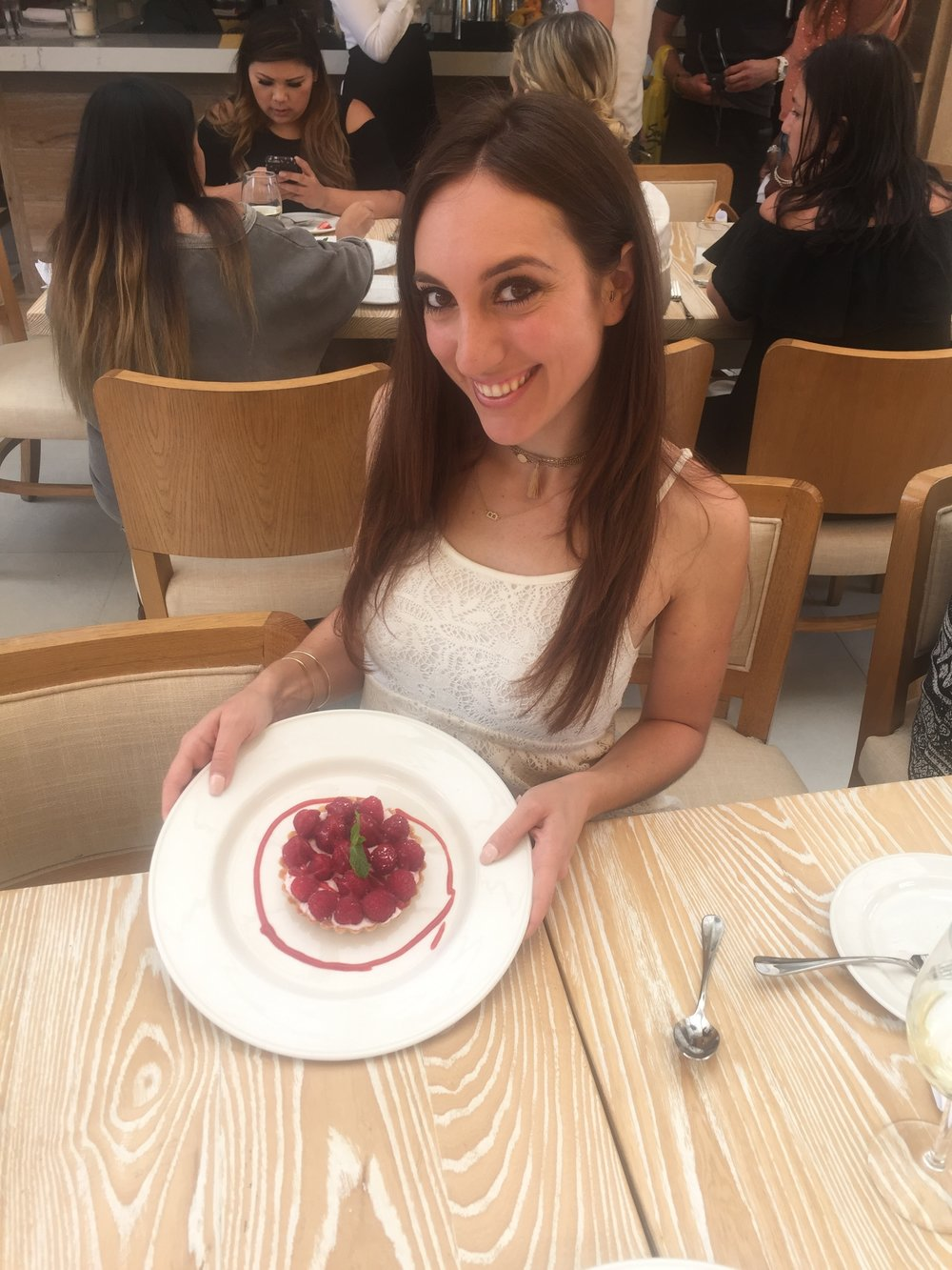 Brielle Galekovic of The Gilded Bellini with Crostatina with Red Berries at Serafina Sunset