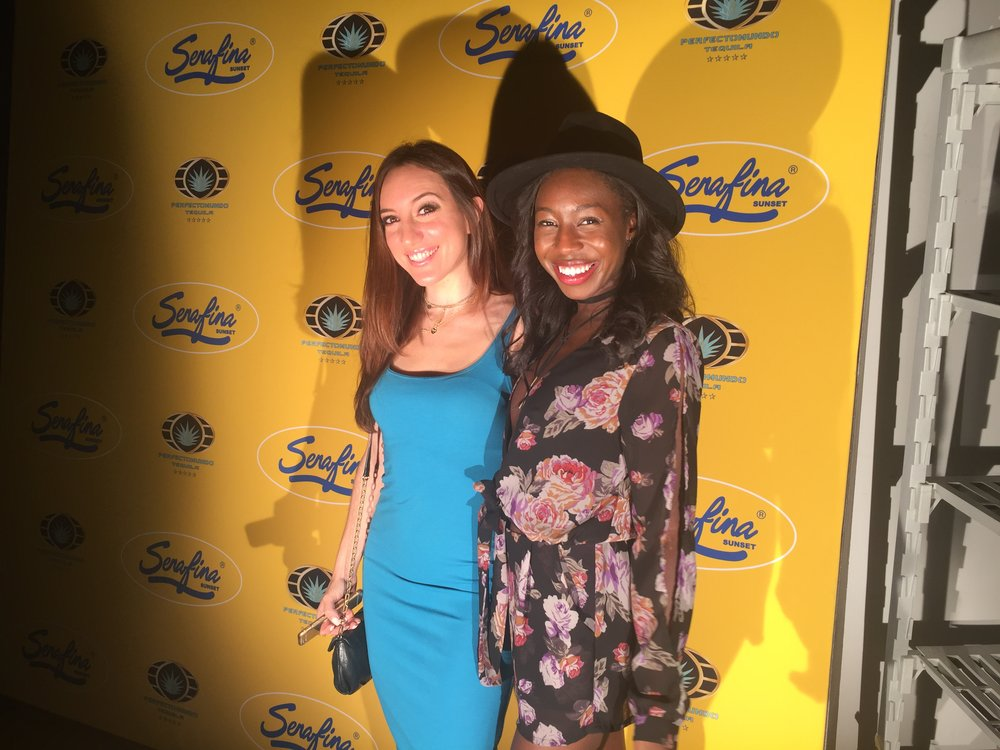 Brielle Galekovic and Candice Nikeia at Serafina Sunset