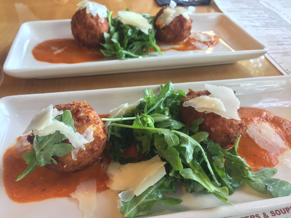Risotto and Goat Cheese Beignets at Salt Creek Grille