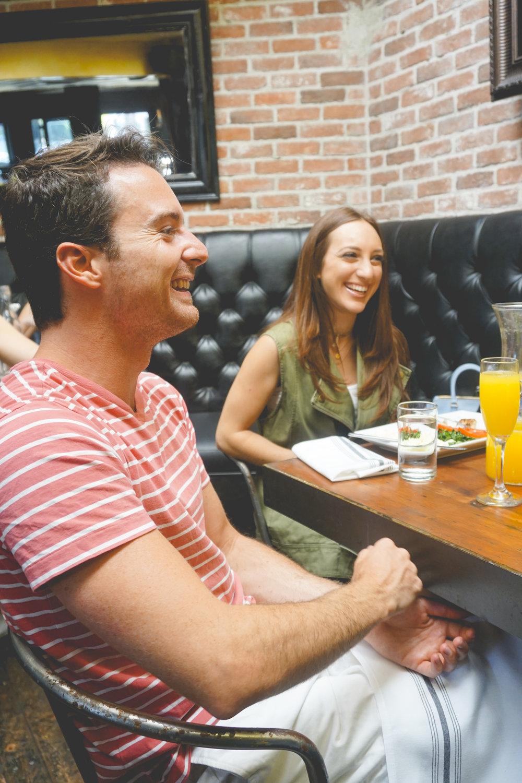 Kyle Langan and Brielle Galekovic at The Hudson LA