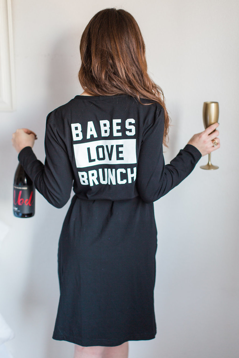 The Gilded Bellini in Babes Love Brunch Robe by Recluse Apparel
