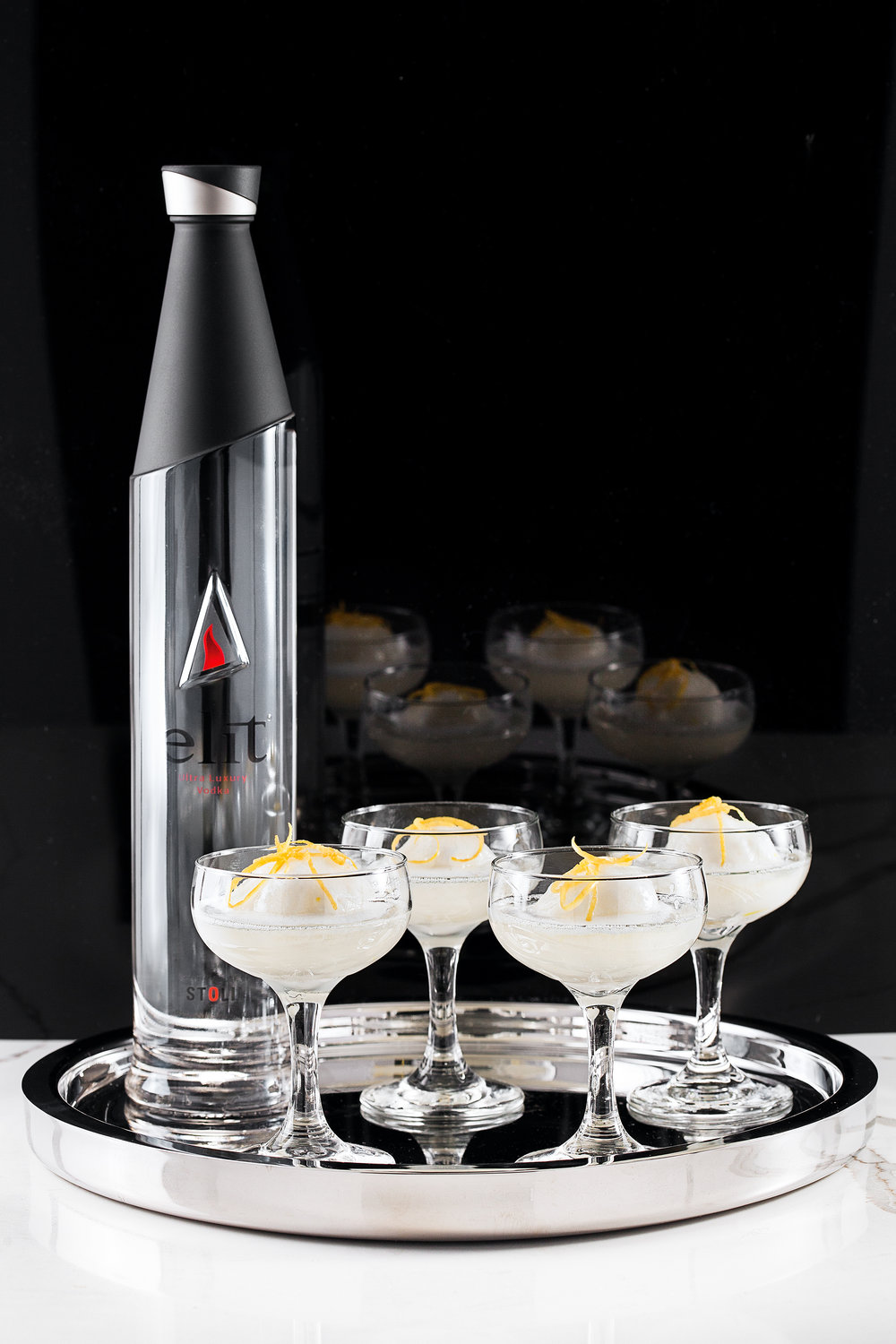 Sgroppino Cocktail with elit Vodka