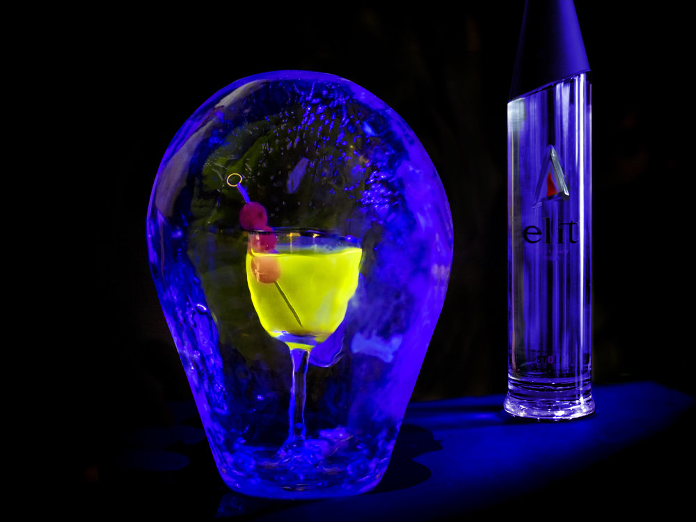 Glow-In-The-Dark Martini by Rael Petit