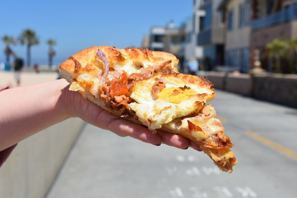 Breakfast Pizza at Mickey's Italian Delicatessen
