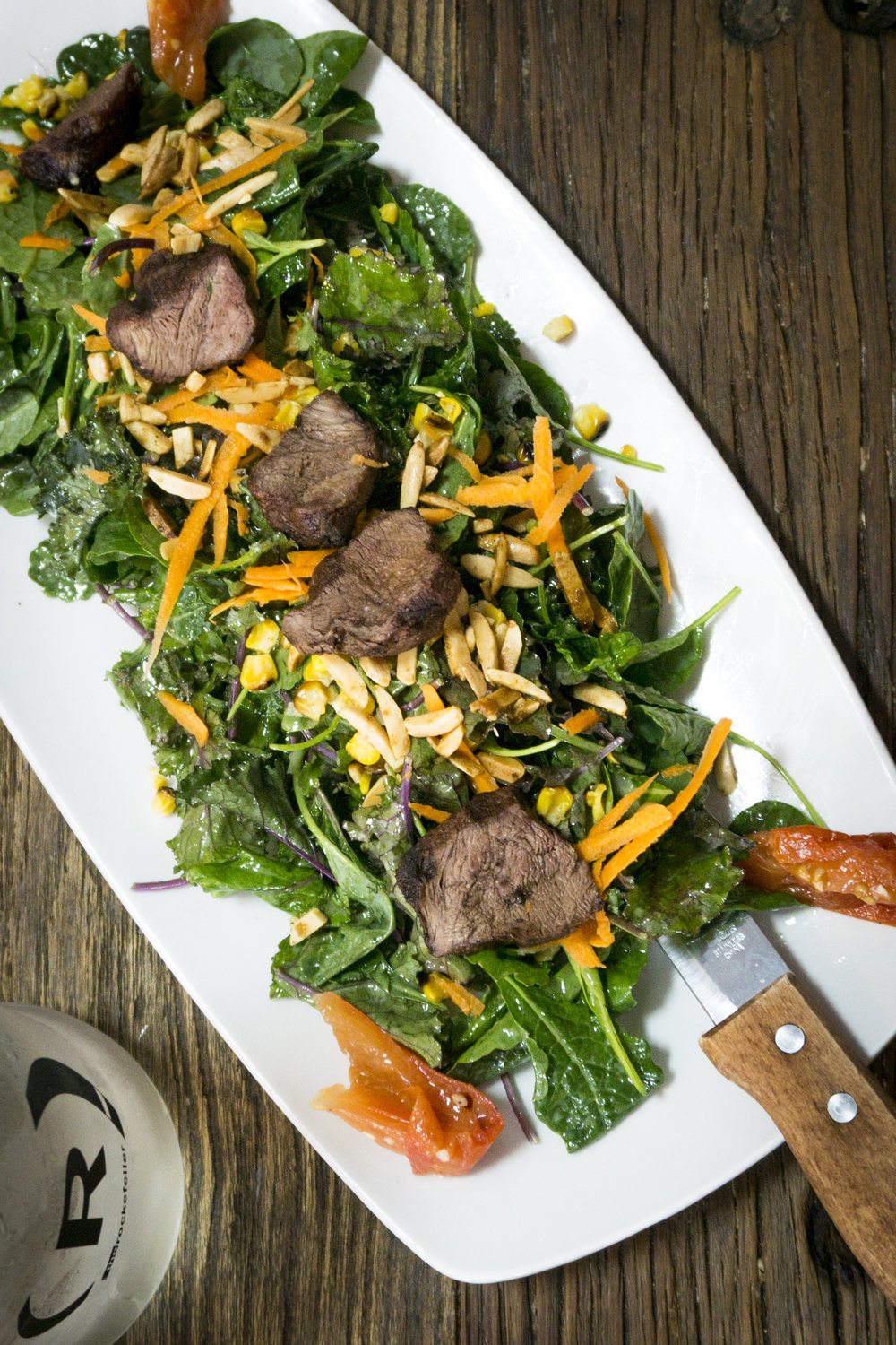 Healthy Steak Salad at The Rockefeller Manhattan Beach