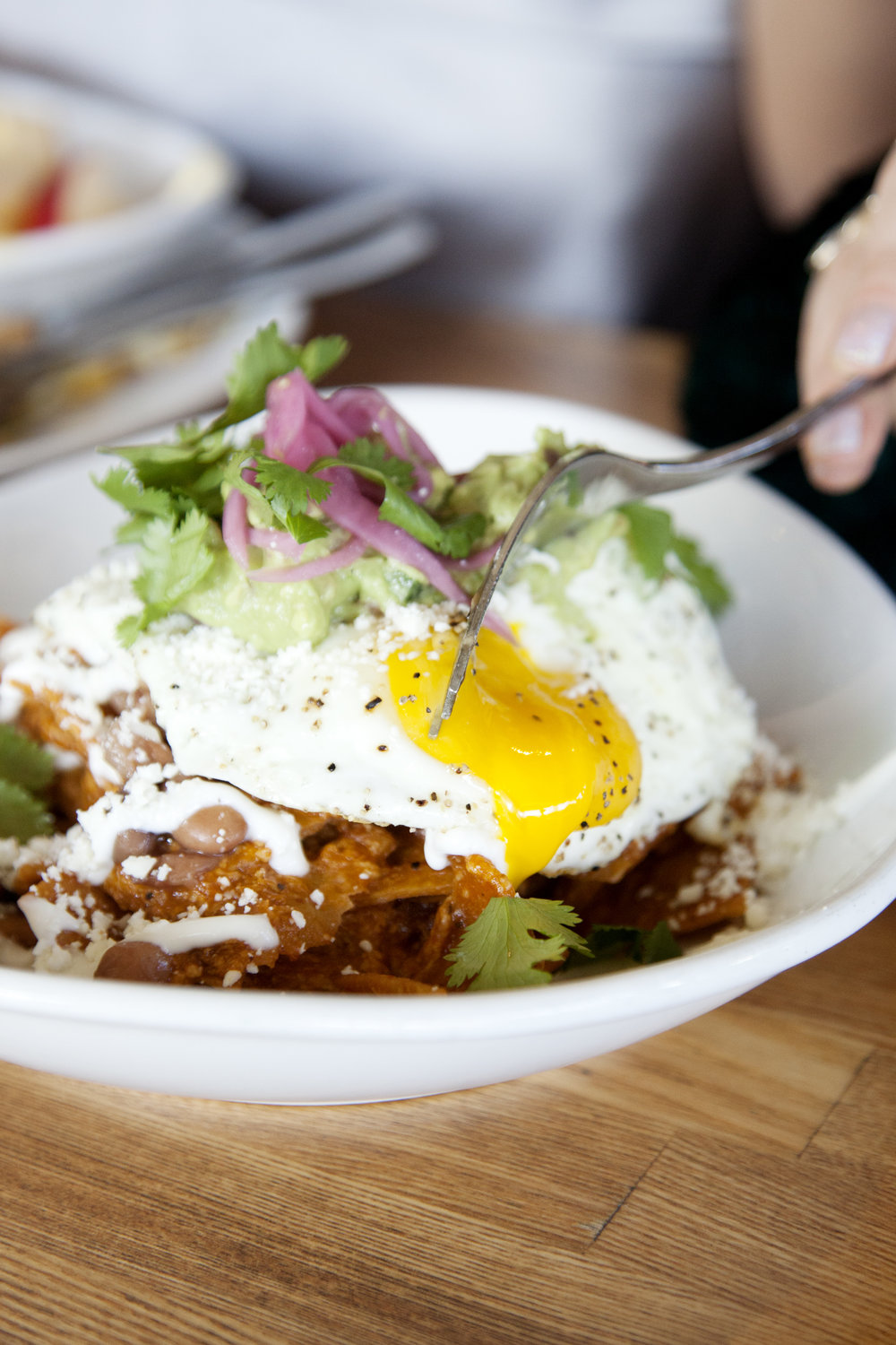 Chilaquiles at TRUST San Diego