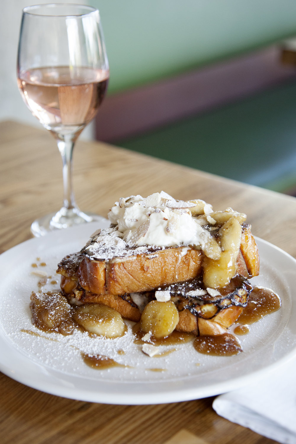 Bananas Foster French Toast at TRUST San Diego