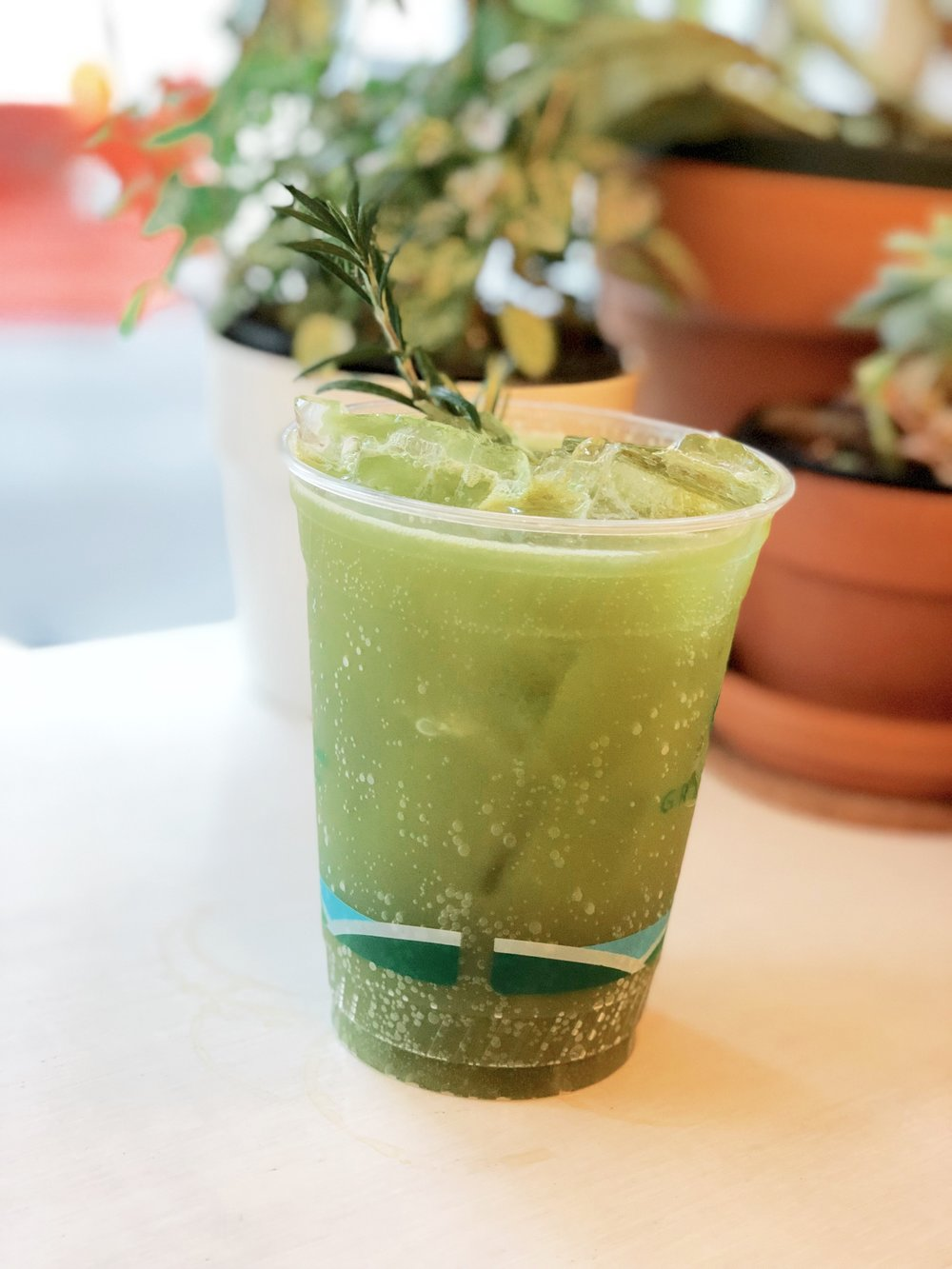 Matcha Spritzer at Cafe Integral