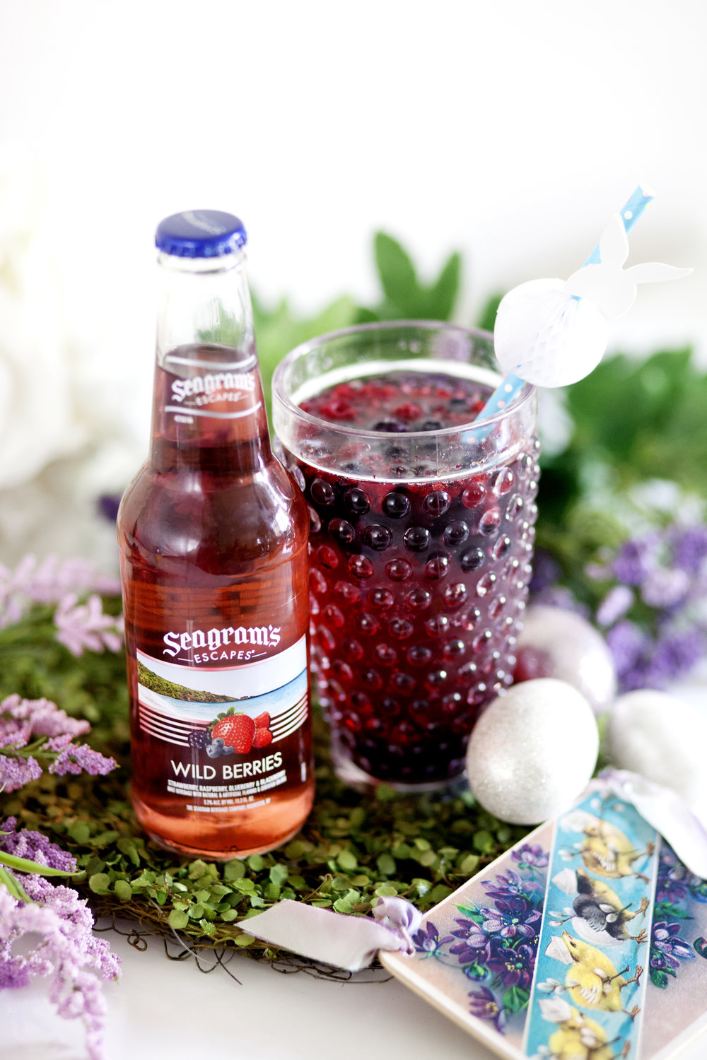 Seagram's Escapes Wild Berries Easter Cocktail on The Gilded Bellini