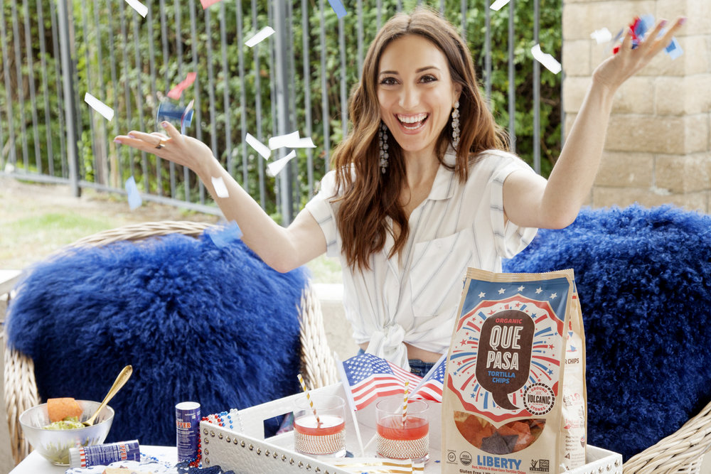 Brielle Galekovic of The Gilded Bellini with Que Pasa Liberty Chips